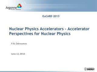 Nuclear Physics Accelerators ?  Accelerator  Perspectives for Nuclear Physics