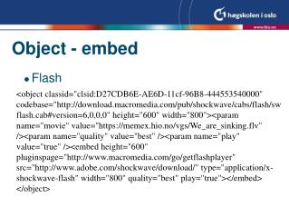 Object - embed