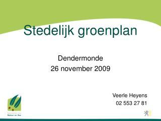 Stedelijk groenplan