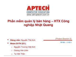Phần mềm quản lý bán hàng  – HTX  Công nghiệp Nhật Quang