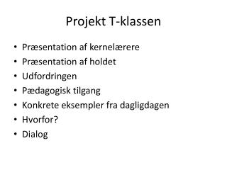 Projekt T-klassen