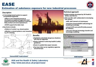EASE Estimation of substance exposure for new industrial processes