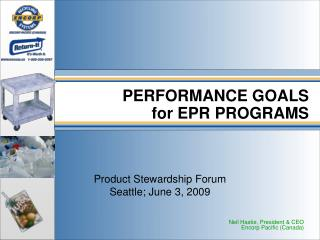 PERFORMANCE GOALS for EPR PROGRAMS