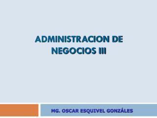 ADMINISTRACION DE NEGOCIOS III