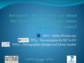 Session 4 �  What can we see  about the structure of the  fututre  labour  demand  and  supply ?