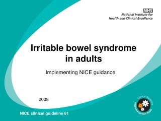 Irritable bowel syndrome in adults