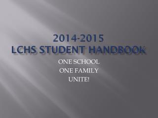 2014-2015 LCHS Student Handbook