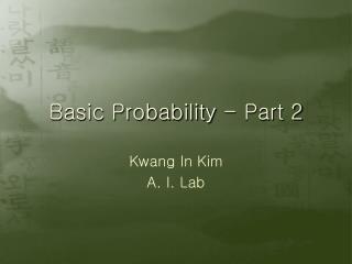 Basic Probability - Part 2