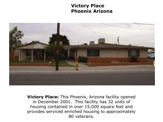 Victory Place   Phoenix Arizona