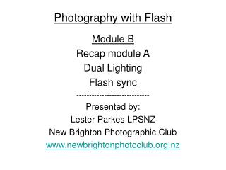 Photography with Flash