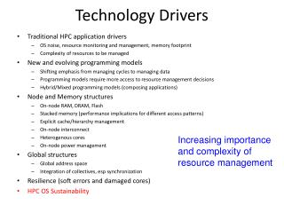 Technology Drivers