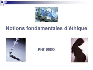 Notions fondamentales d'éthique