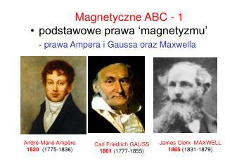 Magnetyczne ABC - 1