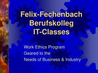 Felix-Fechenbach Berufskolleg IT-Classes