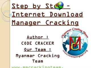 Step by Step – Internet Download Manager Cracking