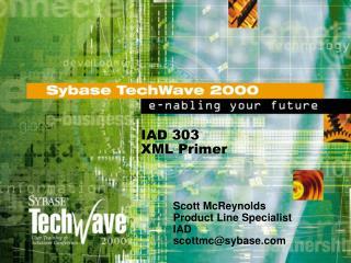 IAD 303 XML Primer