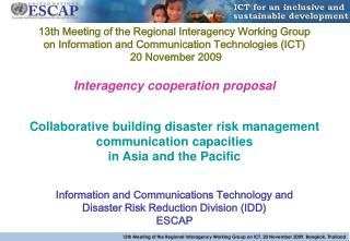 Interagency cooperation proposal Collaborative building disaster risk management