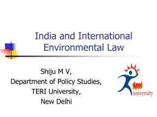 India and International Environmental Law