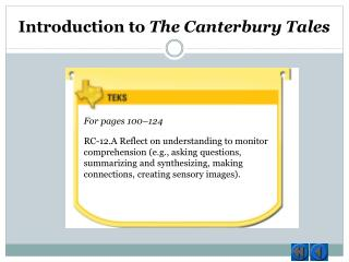 Introduction to  The Canterbury Tales