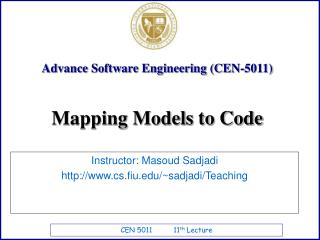 Advance Software Engineering (CEN-5011)