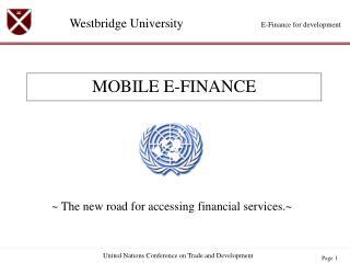 MOBILE E-FINANCE