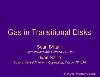 Gas in Transitional Disks