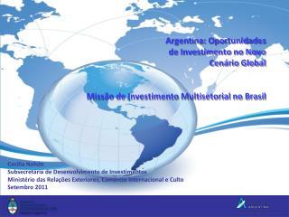 Cecilia Nahón Subsecretária de Desenvolvimento de Investimentos