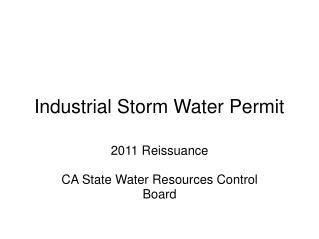 Industrial Storm Water Permit