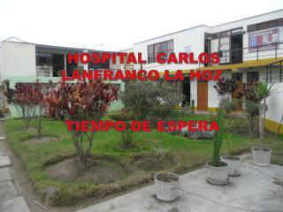 HOSPITAL  CARLOS LANFRANCO LA HOZ TIEMPO DE ESPERA