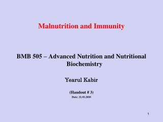 Malnutrition and Immunity