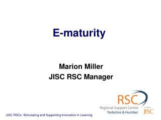 E-maturity