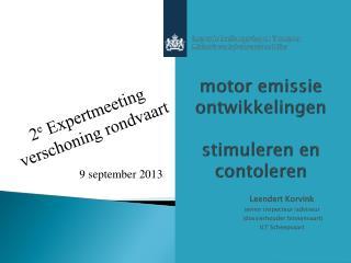 motor emissie ontwikkelingen stimuleren en contoleren