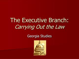 The Executive Branch: Carrying Out the Law
