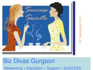 Biz Divas Gurgaon Networking + Education + Support = SUCCESS