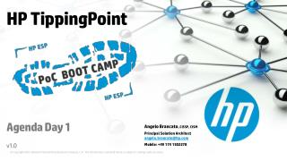 HP TippingPoint Agenda Day 1 v1.0