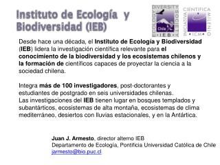 Instituto  de  Ecología y Biodiversidad  (IEB)