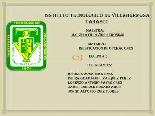 INSTITUTO TECNOLOGICO DE VILLAHERMOSA TABASCO