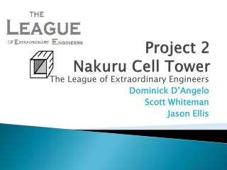 Project 2 Nakuru  Cell Tower