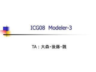 ICG08  Modeler-3