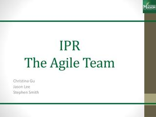 IPR The Agile Team