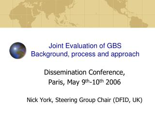 Joint Evaluation of GBS Background, process and approach