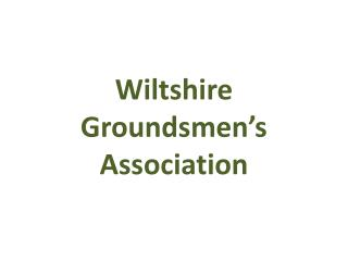 Wiltshire  Groundsmen's  Association