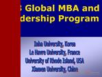 Global MBA  Leadership Program