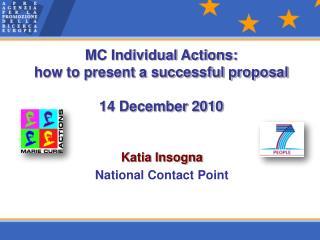 Katia Insogna National Contact Point