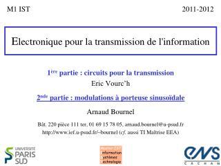 E lectronique pour la transmission de l'information