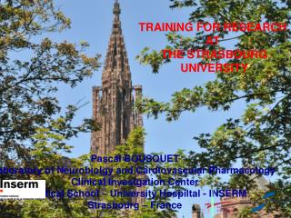 TRAINING FOR RESEARCH  AT  THE STRASBOURG UNIVERSITY