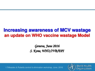 Revision of the Multi Dose Vial Policy MDVP