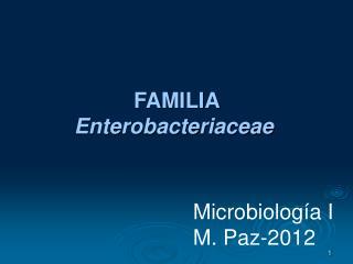 Microbiología  I M.  Paz-2012