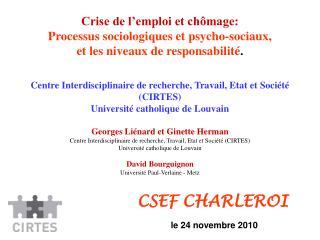 CSEF CHARLEROI le 24 novembre 2010