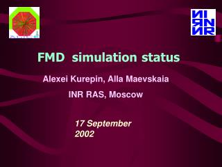 FMD  simulation status